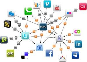 ilustrasi blog dan jejaring sosial