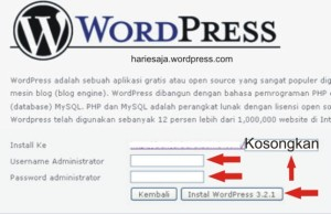 install wordpress di hosting gratis indonesia